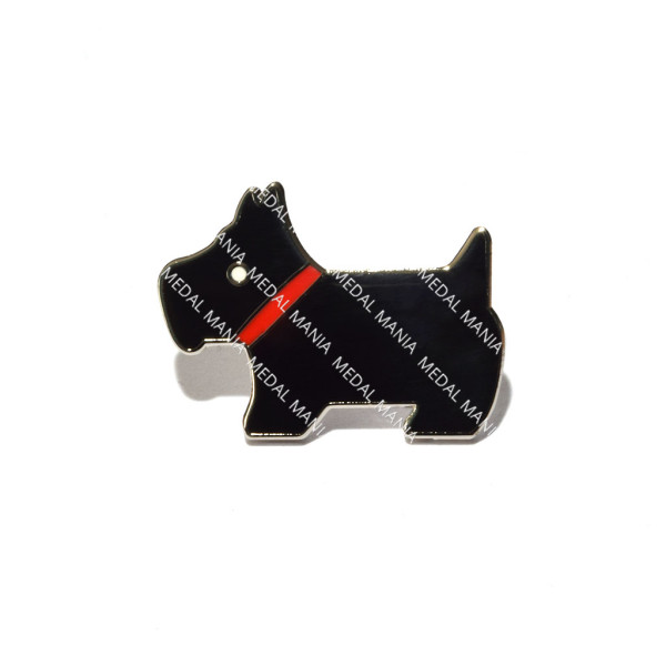 Black West Highland Terrier Pin Badge 1