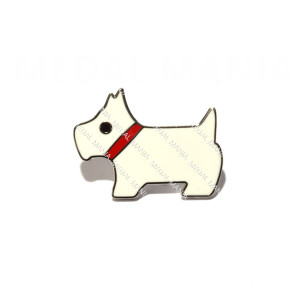 White West Highland Terrier Pin Badge